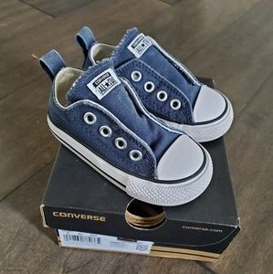 Converse Navy Blue CT Simple Slip Size 5 Infant